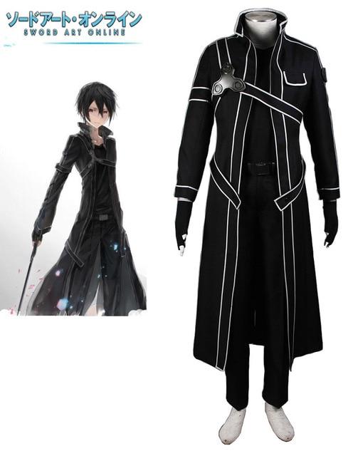 Free Shipping Sword Art Online Beater Black Swordsman Kirigaya Kazuto/Kirito  Anime Cosplay Costume