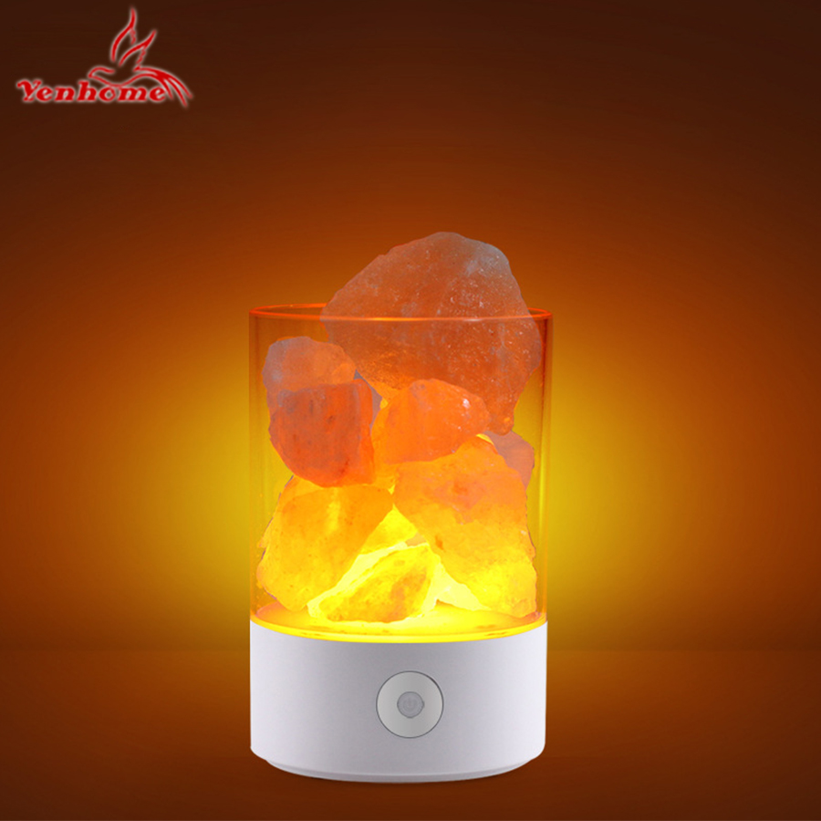 LED Night Light Himalayan Salt Lamp Air Purifier Crystal Salt Rock Bedside Night Light For Bedroom Decoration Table Desk Lamp tanbaby usb crystal salt night light himalayan crystal rock salt lamp air purifier night light touch dimmer switch creative gift