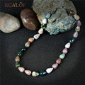 KCALOE Vintage Indian Agate Chockers Necklaces Retro Accessories Colorful Semi-Precious Stones Statement Necklace For Women
