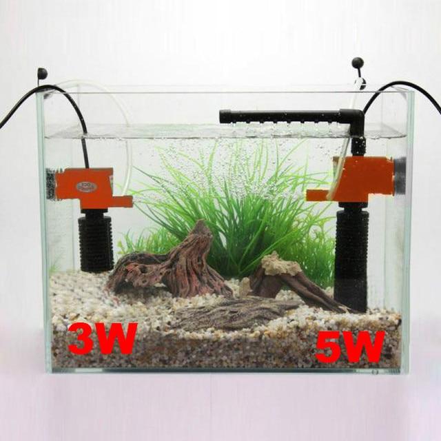 3/5w Black Aquarium Internal Water Filter Submersible Pump 3 In1 Pump Water Circulation For Fish Turtle Tank 300/600L/H Flow