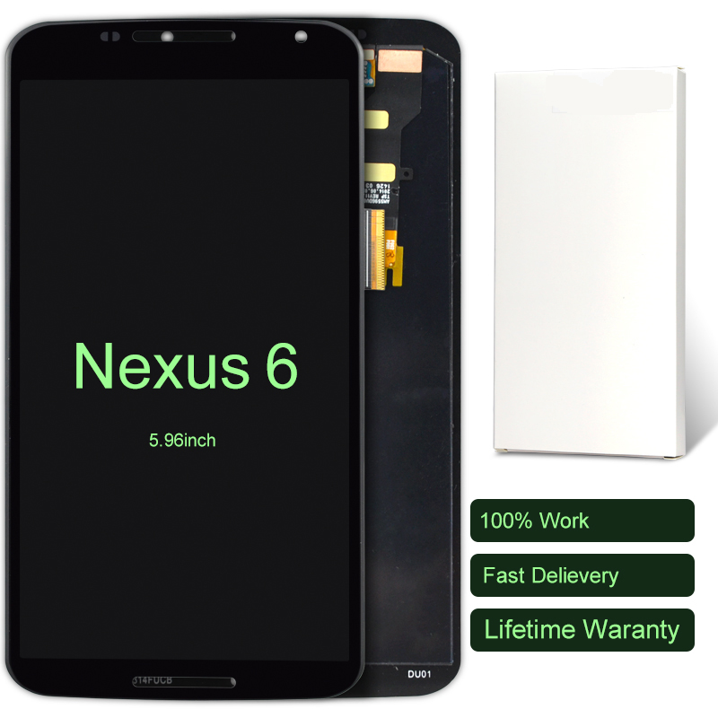 10pcs For Google Motorola Moto Nexus 6 XT1100 XT1103 LCD Display With Touch Screen Digitizer Assembly