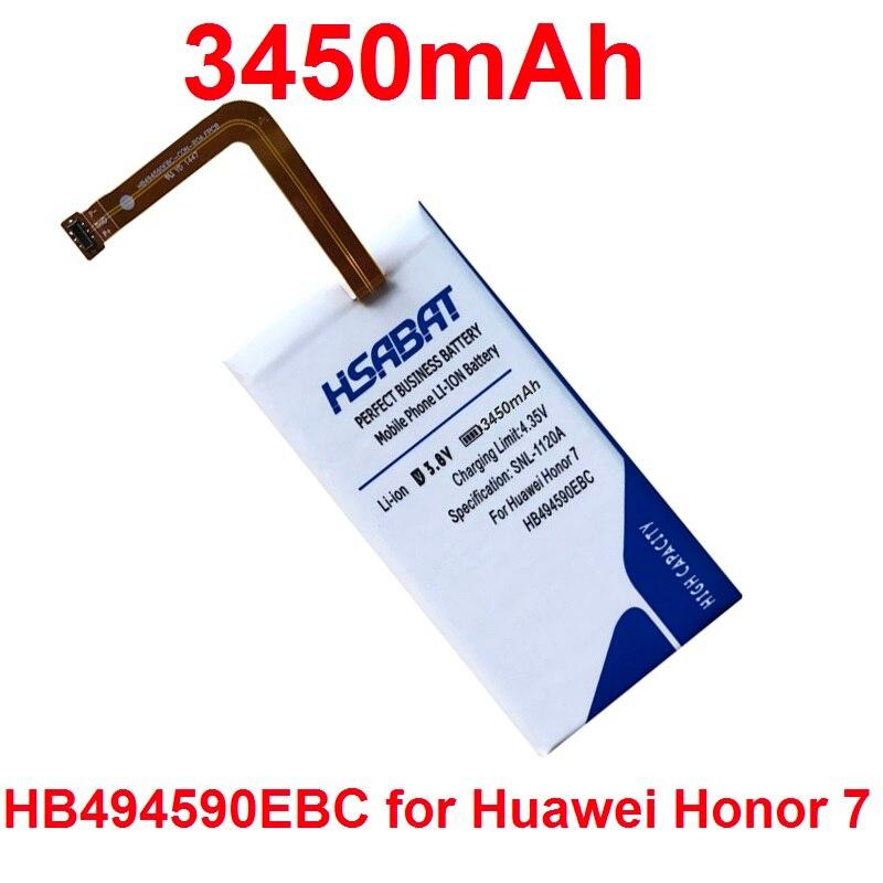imágenes para HSABAT 3450 mAh Batería para Huawei Honor 7 G620 HB494590EBC G628