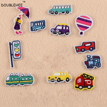 DOUBLEHEE A Variety Of Cars Embroidered Iron On Patches For Clothing Patch Cloth Coat Bag Shoes DIY Accessories