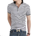 Men Polo Shirt 2017 Summer Men Business Casual Breathable White Striped Short Sleeve Polo Shirt Pure Cotton Work Clothes Polos