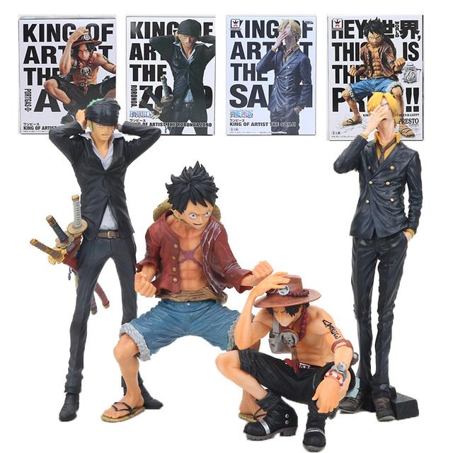 15-25cm One Piece Monkey D Luffy Ace King Toys