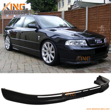 Подходит 1996 1997 1998 1999 2000 2001 Audi A4 B5 передний бампер спойлер L Тип 4 двери поли уретан