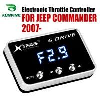 Auto Elektronische Drossel Controller Racing Gaspedal Potent Booster Für JEEP COMMANDER 2007 2019 Tuning Teile Zubehör-in Auto-elektronische Drossel-Controller aus Kraftfahrzeuge und Motorräder bei