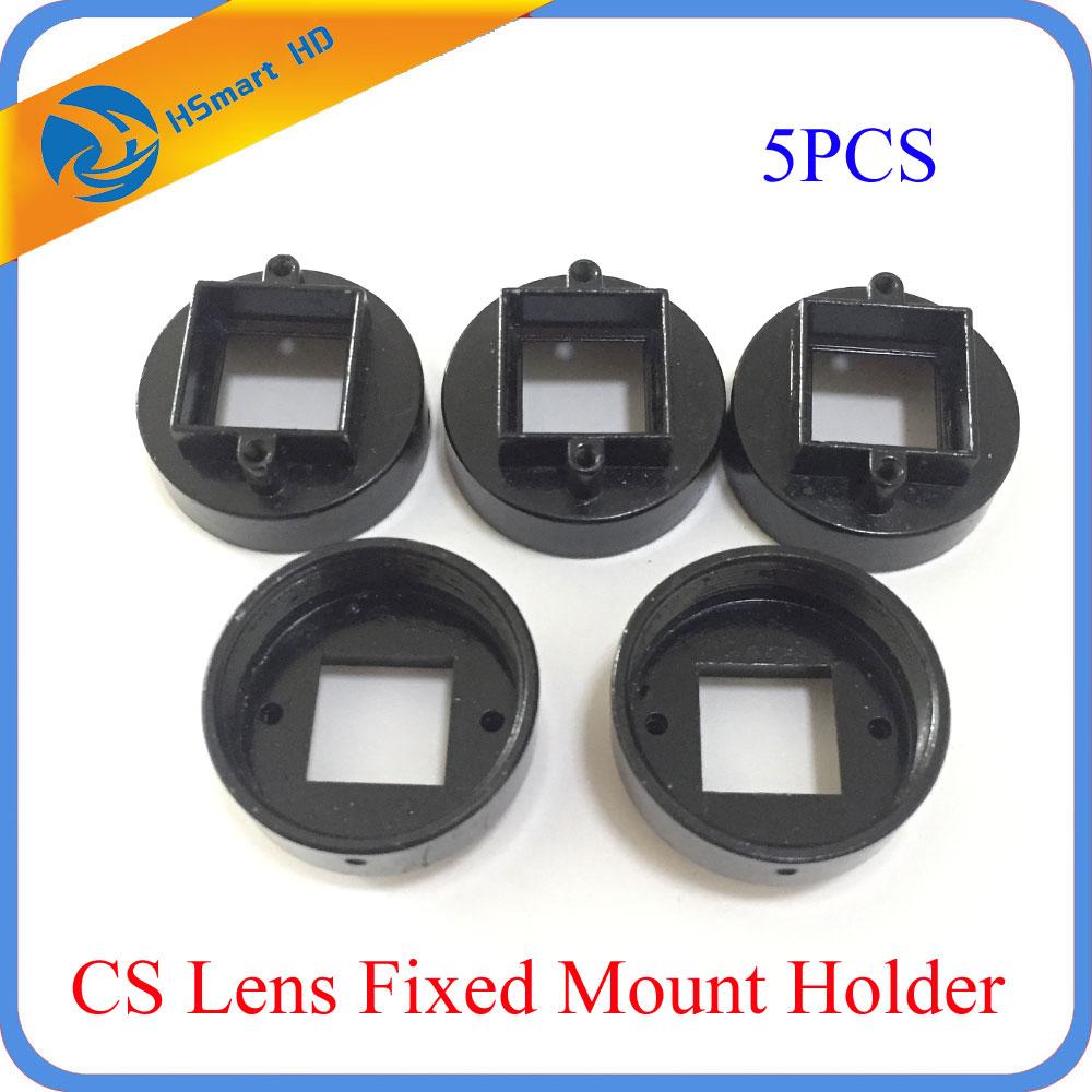 Camera Support 5X CCTV Camera CS Lens Fixed Mount Holder for (20mm screw distance) Cctv AHD TVI CVI 1080P HD IP Cameras
