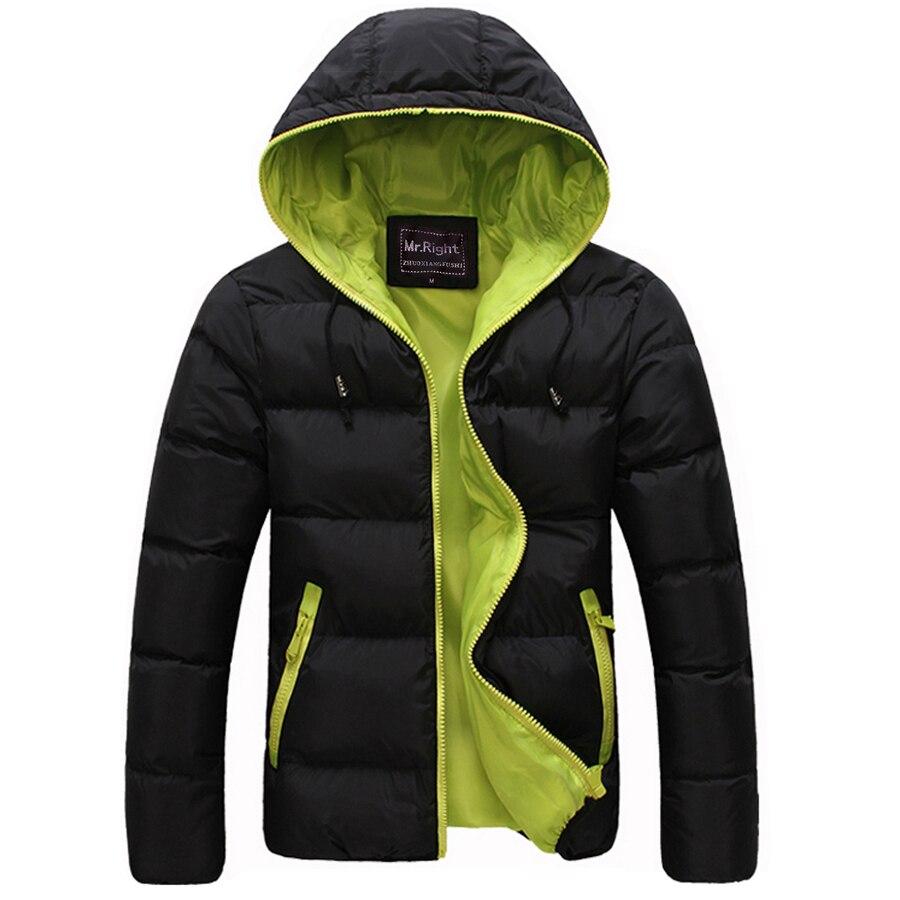 Winter <font><b>Men</b></font> Jacket 2017 New Brand High Quality Candy Color Warmth <font><b>Mens</b></font> Jackets And Coats Thick Parka <font><b>Men</b></font> Outwear XXXL