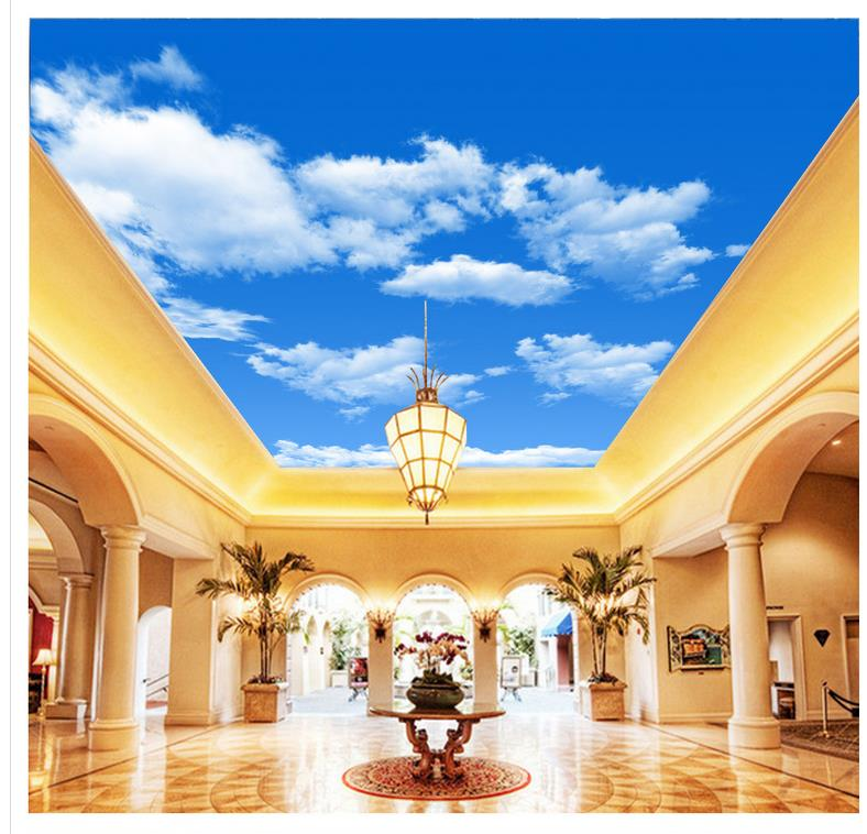 HD ciel nuage plafond 3d papier peint moderne pour salon peintures murales plafond décoration de la maison fresque