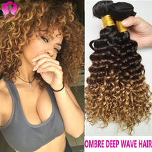 Ombre Malaysian Virgin Hair 4 Bundles Human Hair Extension Deep Wave Curly Hair Sexy Formula Hair Yvonne Meches Bresilienne Lots