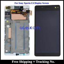 100% נבדק כיתה AAA 5.5 עבור Sony Xperia C4 LCD תצוגה עבור Sony Xperia C4 E5303 E5306 E5333 מסך מגע Digitizer עצרת