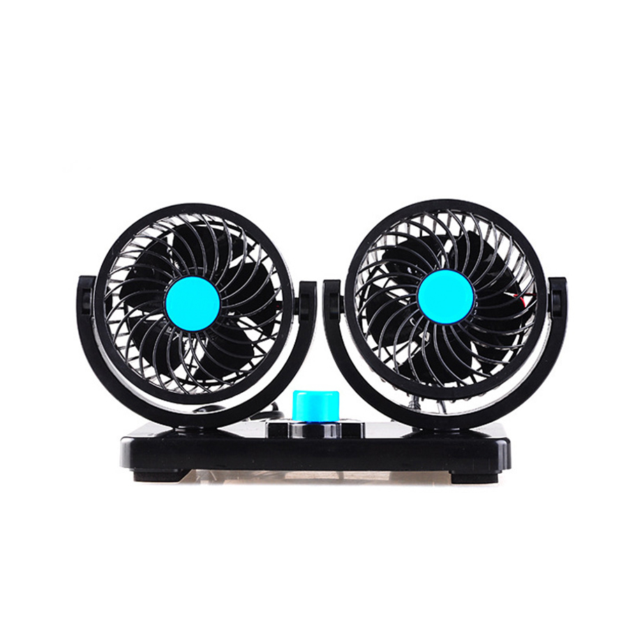 mini car fan low noise summer car air conditioner 360 degree rotating 2 gears adjustable car fans portable fan air cooling fan - Portable Air Conditioner For Car
