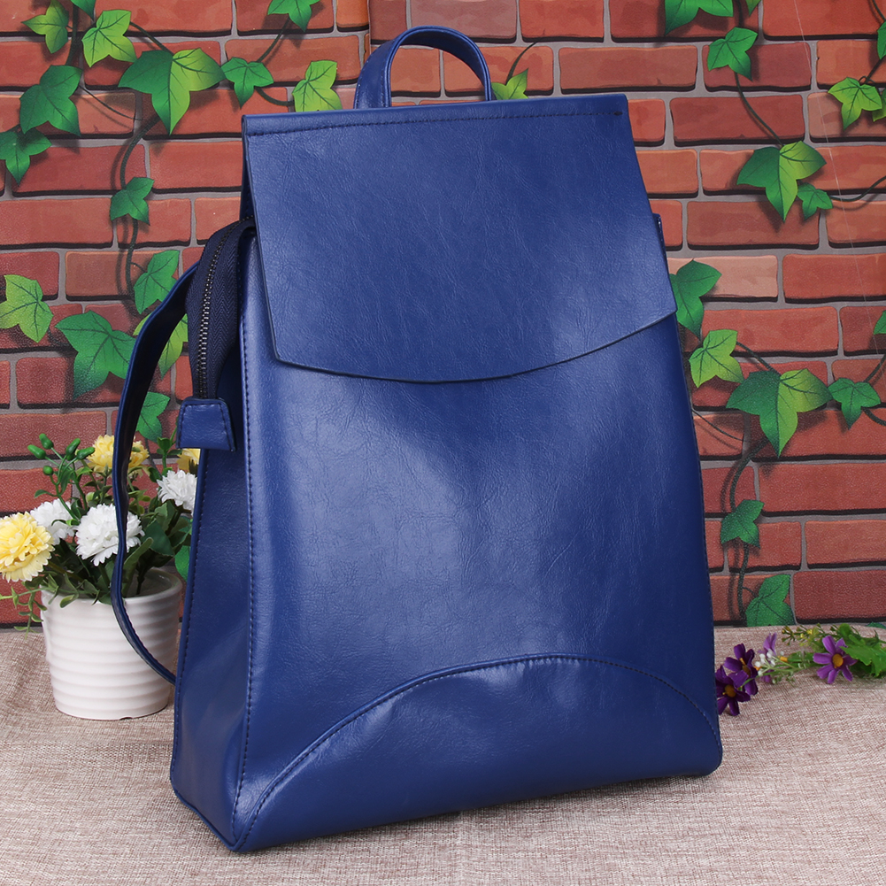 Design PU Leather Backpack Women Backpacks For Teenage Girls School Bags Black Summer Vintage Backpack Mochilas Mujer
