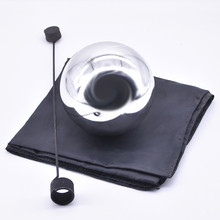 Мяч зомби с фуляром, средний(серебряный цвет, диамтер 12 см) Плавающие фокусы волшебник сценический трюк Иллюзия веселье