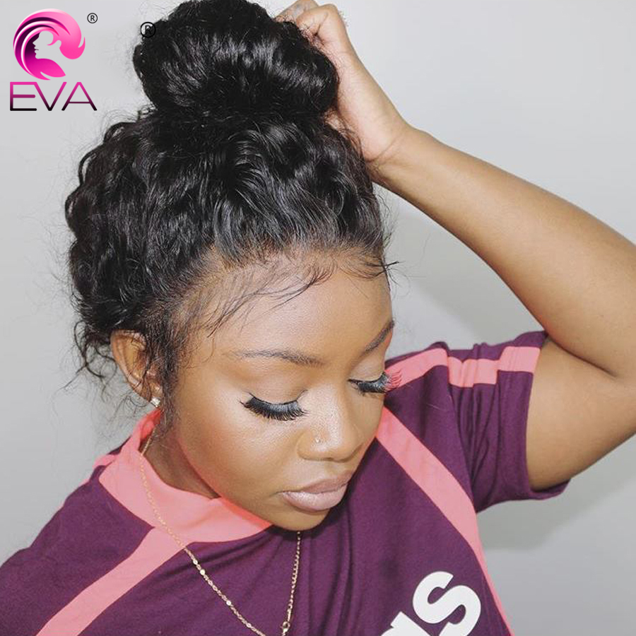 Eva Hair Curly Lace Front Human Hair Wigs Pre Plucked Hairline With Baby Hair Glueless Full End Lace Wigs Brazilian Remy Hair