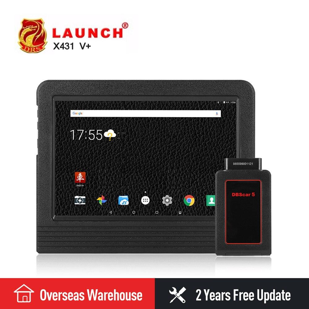 Lancement X431 V + V plus OBDII Automobile Scanner OBD2 Auto Outil De Diagnostic Bluetooth Wifi Complète Du Système Android 7.1 Lancement scanner