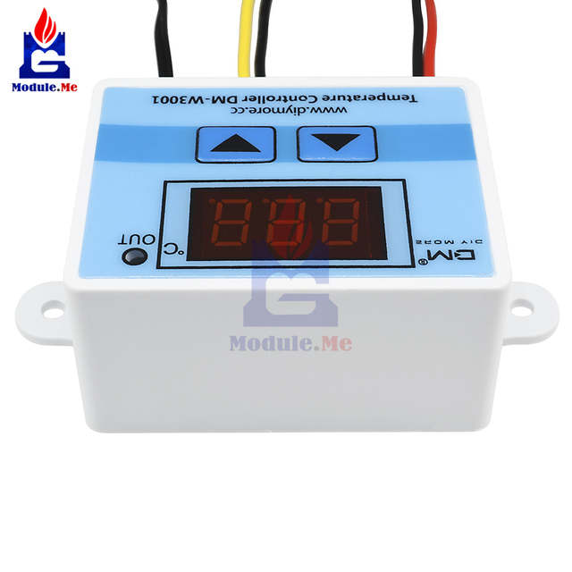 220V AC 10A XH-W3001 Digital LED Temperature Control Controller For Arduino  Cooling Heating Switch Thermostat + NTC Sensor