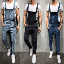 2019 Mens jeans New Denim Straps Hole Suspenders Large size Bib Modis Overalls More S-XL XXL XXXL