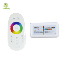 Tanbaby 2.4G touch screen RGB led controller DC12-24A  RF remote control for 5050 3528 led strip  bulb downlight