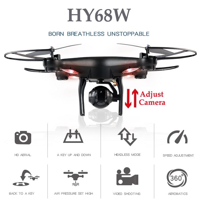 HY68W Quadcopter Drones Rc Avec Caméra Hélicoptère Avec Caméra Drone Drone Maintien D'altitude Quadcopter Hélicoptères Rc Jouets Pour enfants
