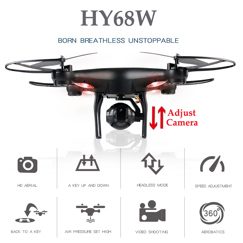 HY68W Quadrocopter Rc Drones With Camera Copter With Camera Drone Dron Altitude Hold Quadcopter Rc Helicopters Toys For children multicolor light mini drone rc helicopter quadcopter dron copter remote control children toy altitude hold quadrocopter d6