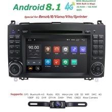 2 Din Android 8.1 Auto Autoradio DVD GPS unità di Testa per Mercedes Benz B200 UNA Classe B W169 W245 viano Vito W639 Sprinter W906 wifi