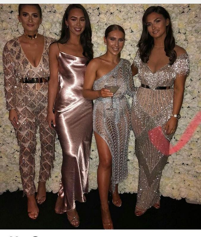 Top Quality Pink Long Sleeve Tassel Bodycon Jumpsuit Party Homecoming Party Sexy Jumpsuit