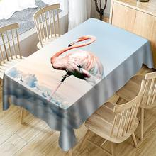 Flamingo and Cloud 3D Waterproof Tablecloth Table Cover Nordic Home Decor Rectangular Cloth Oilproof Fabric