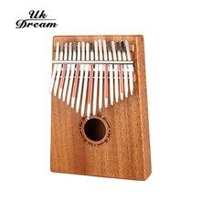 цена на 17 Keys Kalimba Mbira Sanza Likembe Thumb Piano Rosewood Fun Gift Lover Traditional African Music Instrucments 17 tone