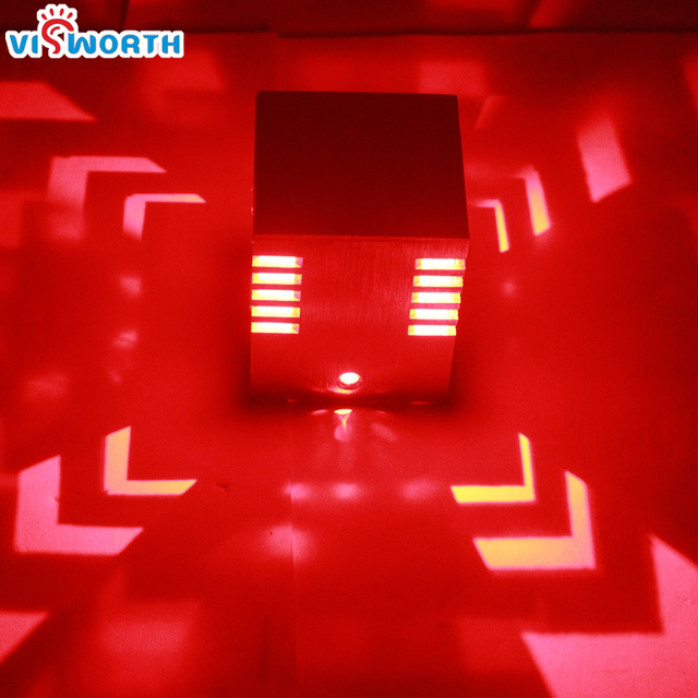 Fashion Cube LED Wall Lamp W ACV V Home Decorate Sconce New - Red light bulb in bedroom