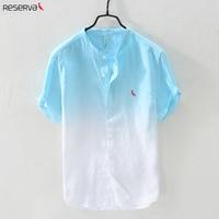 2019 RESERVA ARAMY Reserved New arrival men's shirt top quality casual Short sleeve 100% linen fabric men shirt