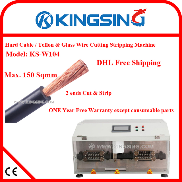 150sqmm Hard Wire/Cable, Line Rope Cutting Stripping Machine KS W104 ...