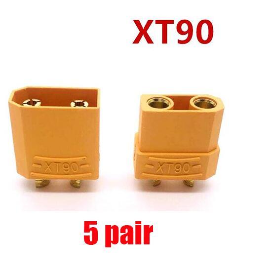 10/20 штук XT60 XT-60 штекерно-разъемы Вилки провод с силикатной гелевой обмоткой для Батарея(5/10 пар - Цвет: 5 pair XT90