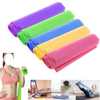 DHL 200 PCS Best 1 5m Elastic Yoga Pilates Rubber Stretch Resistance Exercise Fitness Band