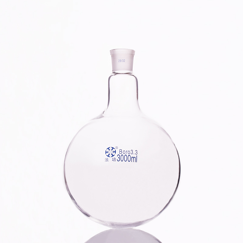 Single standard mouth round-bottomed flask,Capacity 3000ml and joint 29/32,Single neck round flask все цены