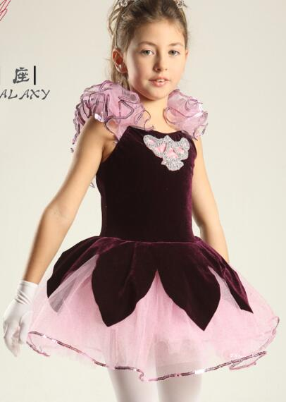 Rose adulte enfants Ballet danse ballerine filles ballet robe justaucorps