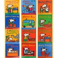 12 książek/zestaw Maisy torba do pływania fala na myszy szczury angielska książka obrazkowa dzieci książka przygodowa książka na naklejki IQ EQ Training na