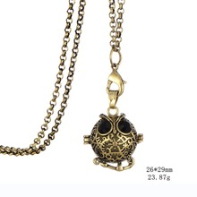 Owl Locket Pendant Glow in the Dark Necklace