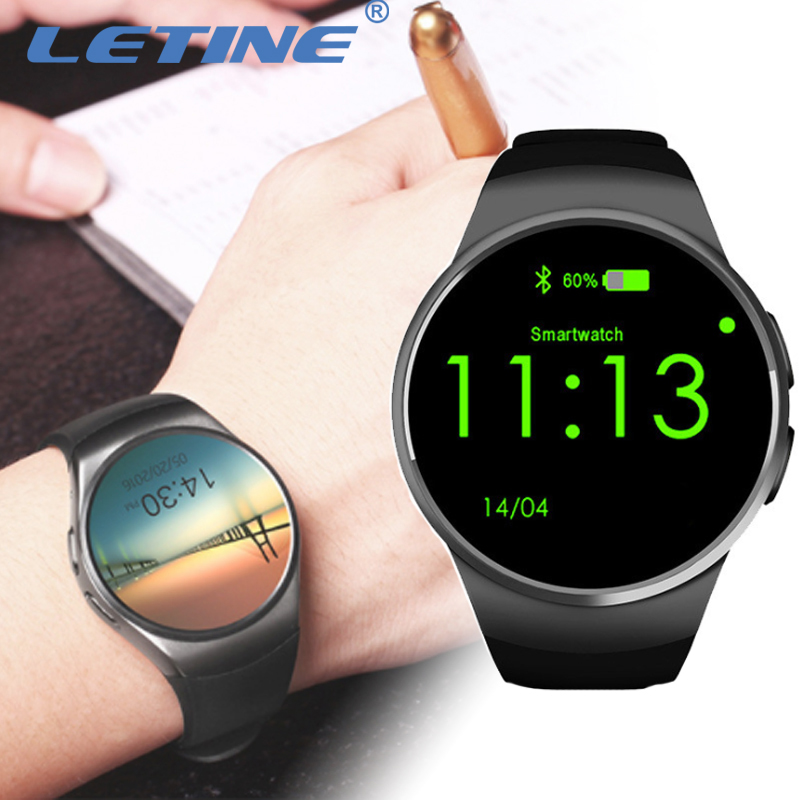 Letine Kingwear KW18 Smart Watches Phone Bluetooth Wrist Watch Smartfone Android with Heart Rate for Men Women Apple iOS Huawei