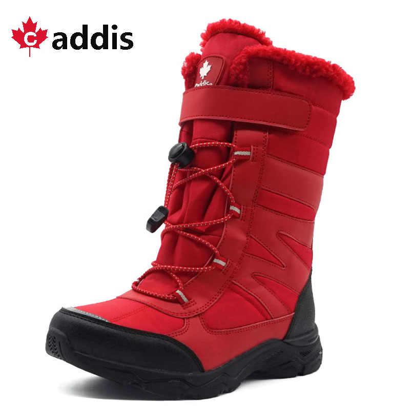-30 градусов Ручейник зима Водонепроницаемый мальчиков Сапоги до середины икры из искусственной кожи резиновая детская обувь теплые зимние ботинки с плюшевым утеплителем для мальчиков Дети