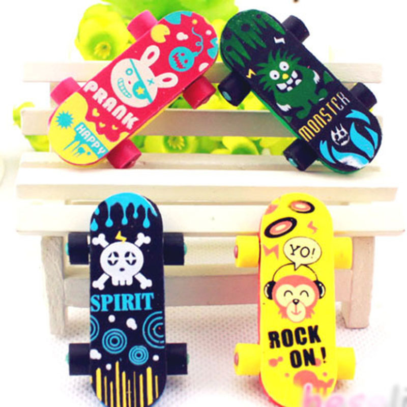1 Pcs Lovely  Skateboard Rubber Eraser Creative Stationery School Supplies Papelaria Kids Gift Learning Supplies Reward
