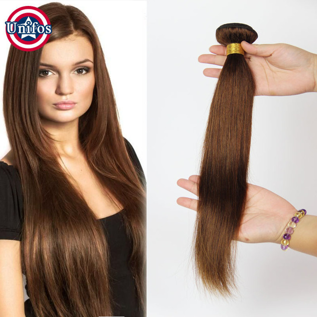 Peruvian Straight Virgin Hair Light Brown Human Hair Weave 1 Bundle