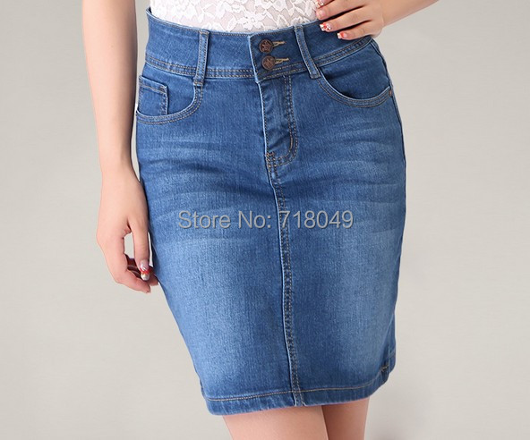Popular Denim Skirts Plus Size-Buy Cheap Denim Skirts Plus Size ...