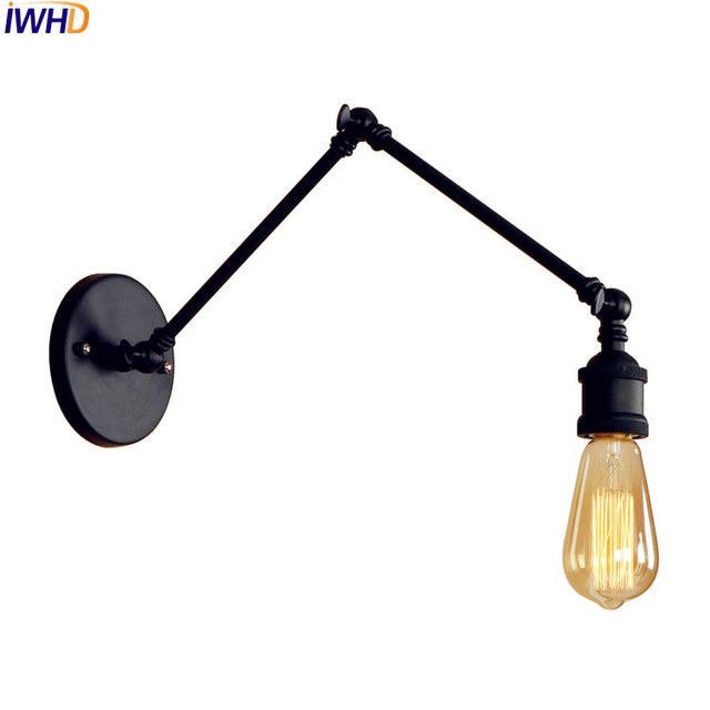 Iwhd adjustable long arm wall light black edison style lighting iwhd adjustable long arm wall light black edison style lighting retro industrial wall light fixtures vintage aloadofball Image collections