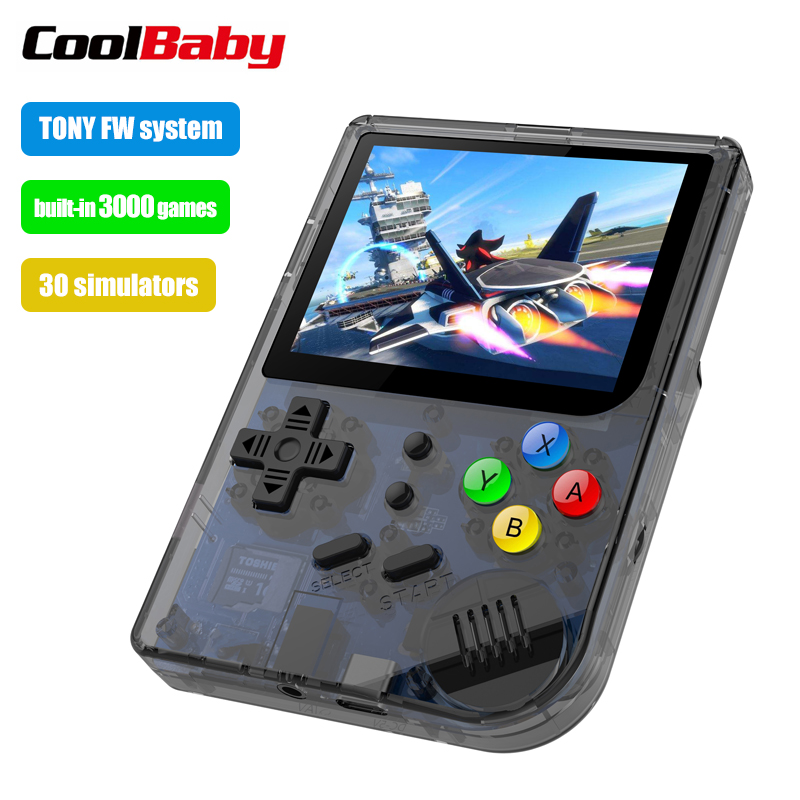 Q30 3 inch Video games Draagbare Retro console Retro Game Handheld Games Console Speler 16G + 32G 3000 GAMES Tony systeem-in Draagbare gameconsoles van Consumentenelektronica op  Groep 1