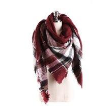 women cashmere warm Softer Plaid scarf selling Plaid scarves temperament wild grid scarf shawl female Plaid lady scarf