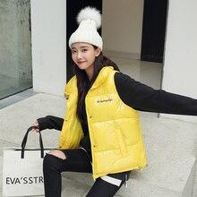 Новинка, зимний жилет Chalecos Para Mujer, зимняя куртка, Женский Длинный жилет, корейский хлопковый женский жилет с воротником-стойкой, женский жилет