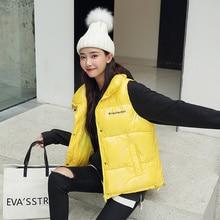 new 2019 Winter Vest Chalecos Para Mujer Jacket Women Long New Korean Stand-up Collar Cotton Gilet Femme