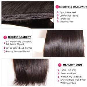 Image 5 - Nadula Hair mechones de cabello lacio indio de 8 30 pulgadas, mechones de cabello humano Remy, máquina de mechones de postizo de doble trama, 3/4 mechones